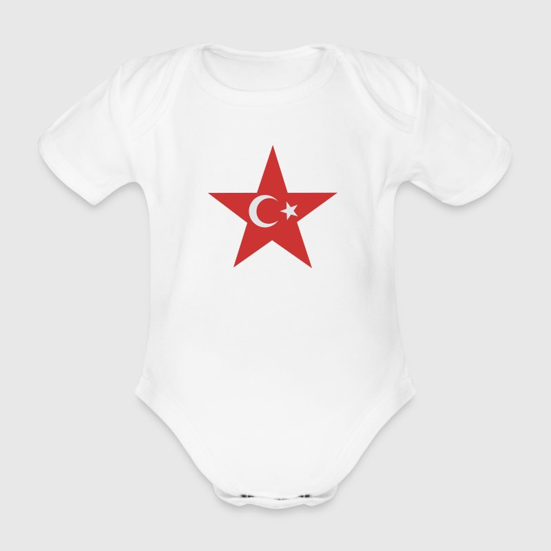Vit turkey_star Babybody - Baby Bio-Kurzarm-Body