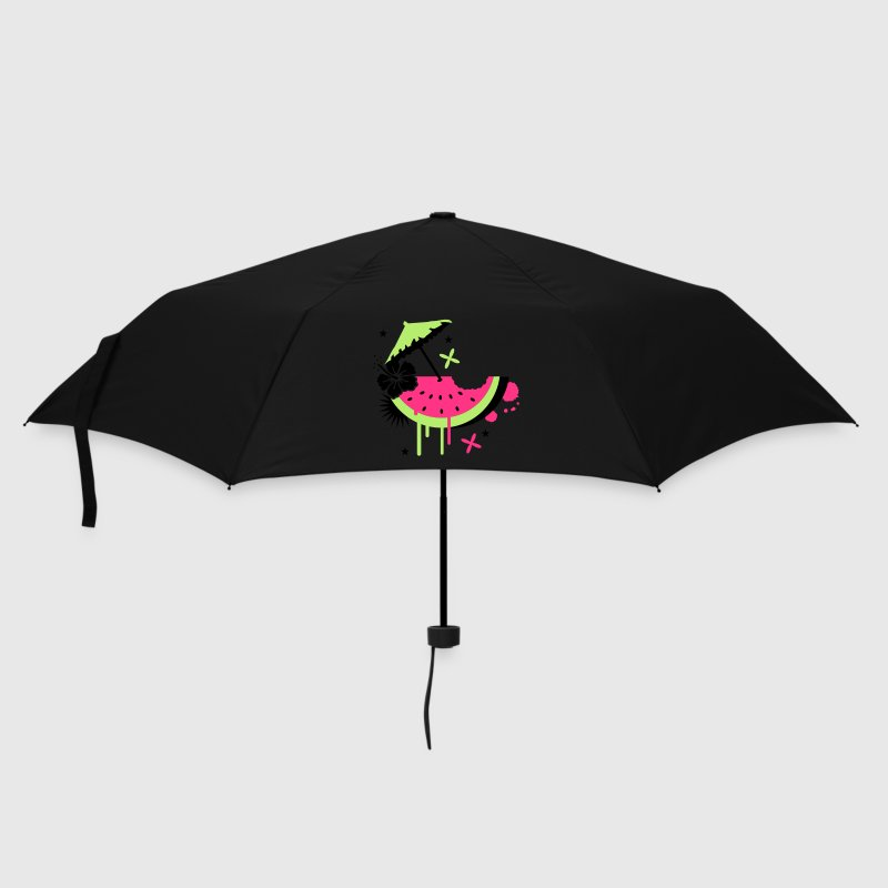 Green Melon with cocktail umbrella and hibiscus flower Umbrellas - Umbrella (small)