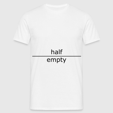 ::  half empty (for mugs and bags) :-:  - T-shirt Homme