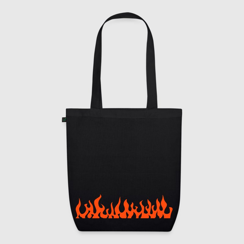 flames  - EarthPositive Tote Bag