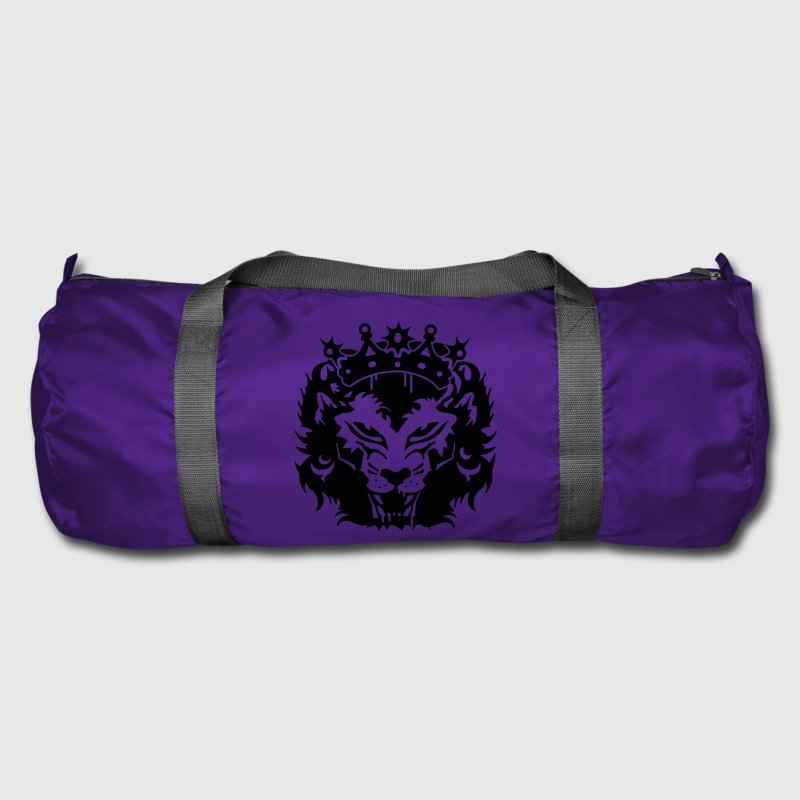 Purple The lion's head with crown Bags  - Duffel Bag