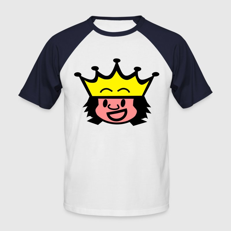 Blanc/rouge king / queen T-shirts - T-shirt baseball manches courtes Homme