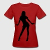 Purple silhouette girl dancer Women's T-Shirts - Women's Organic T-shirt