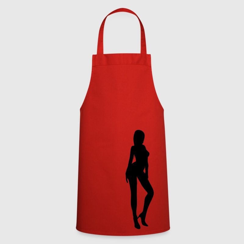 Red silhouette woman sexy  Aprons - Cooking Apron