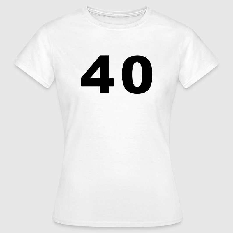 White Number - 40 – Forty Women's T-Shirts - Women's T-Shirt