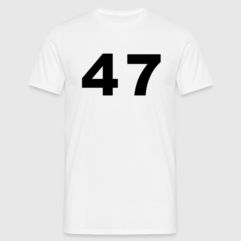 White Number - 47 – Forty Seven Men's T-Shirts - Men's T-Shirt