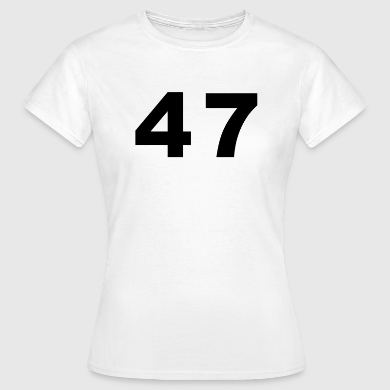 White Number - 47 – Forty Seven Women's T-Shirts - Women's T-Shirt