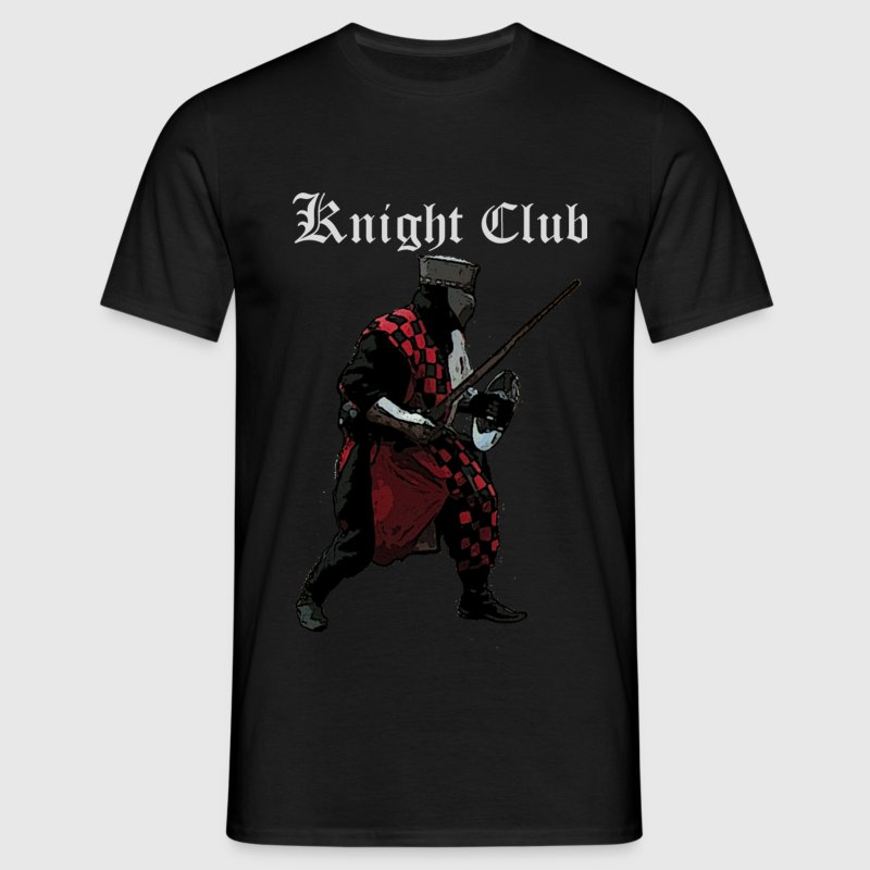Black Knight fight Medieval Men's T-Shirts - Men's T-Shirt