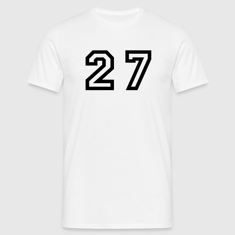 White Number - 27 - Twenty Seven Men's T-Shirts - Men's T-Shirt