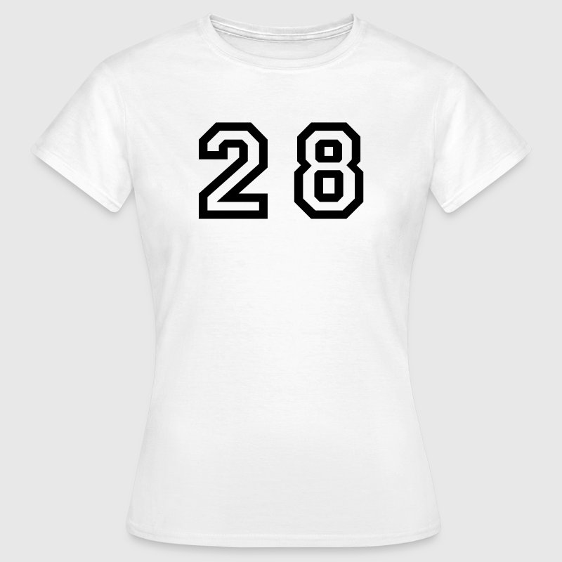 White Number - 28 - Twenty Eight Women's T-Shirts - Women's T-Shirt