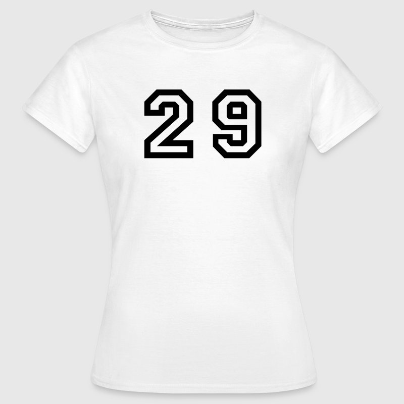 White Number - 29 - Twenty Nine Women's T-Shirts - Women's T-Shirt