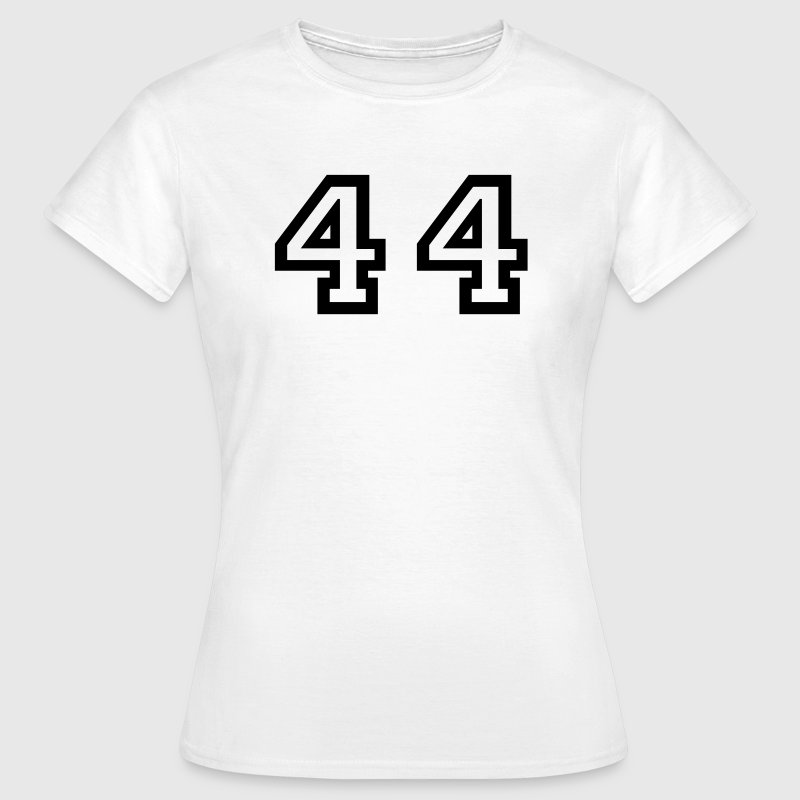White Number - 44 - Forty Four Women's T-Shirts - Women's T-Shirt