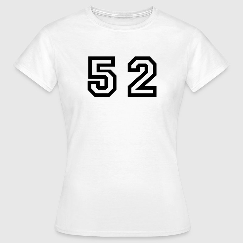 White Number - 52 - Fifty Two Women's T-Shirts - Women's T-Shirt
