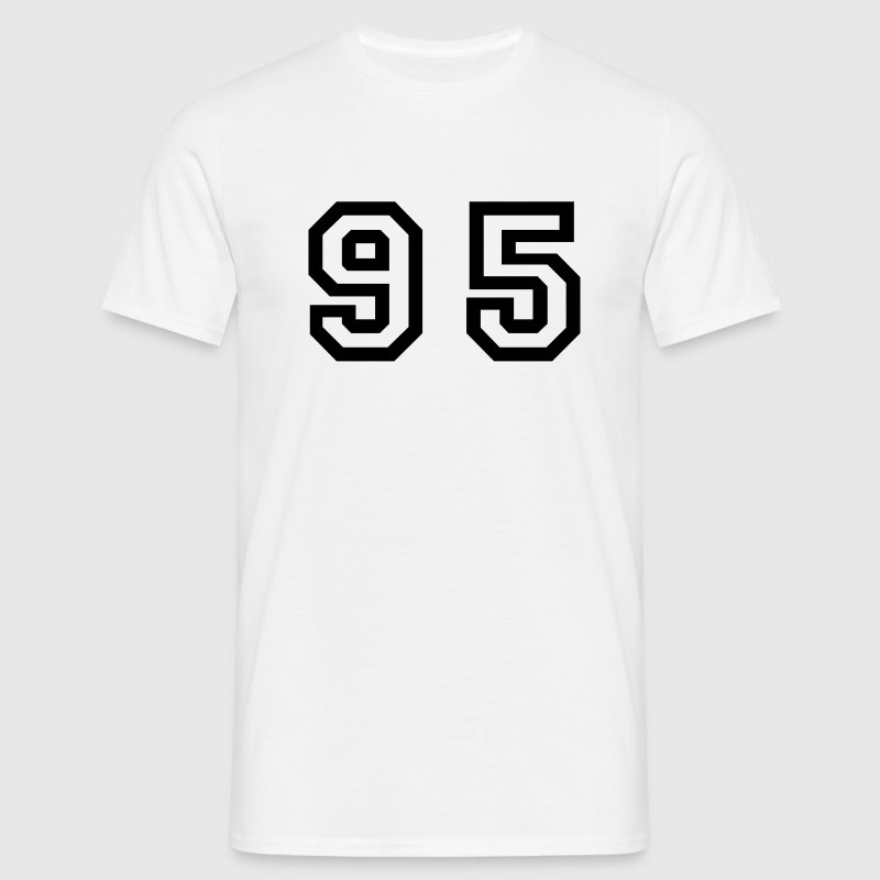 White Number - 95 - Ninety Five Men's T-Shirts - Men's T-Shirt
