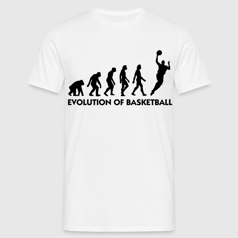 White Evolution of Basketball 2 (1c) Men's T-Shirts - Men's T-Shirt