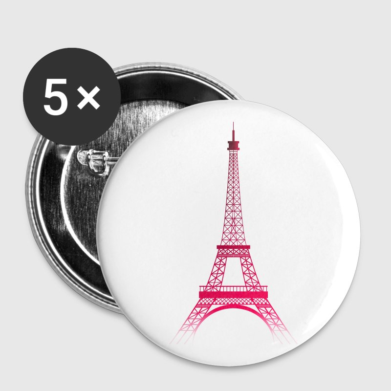 Blanc Tour Eiffel PARIS (rubis) Badges - Badge moyen 32 mm