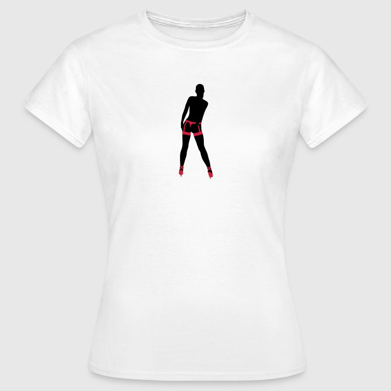 Weiß Girl in Strapse T-Shirts - Frauen T-Shirt