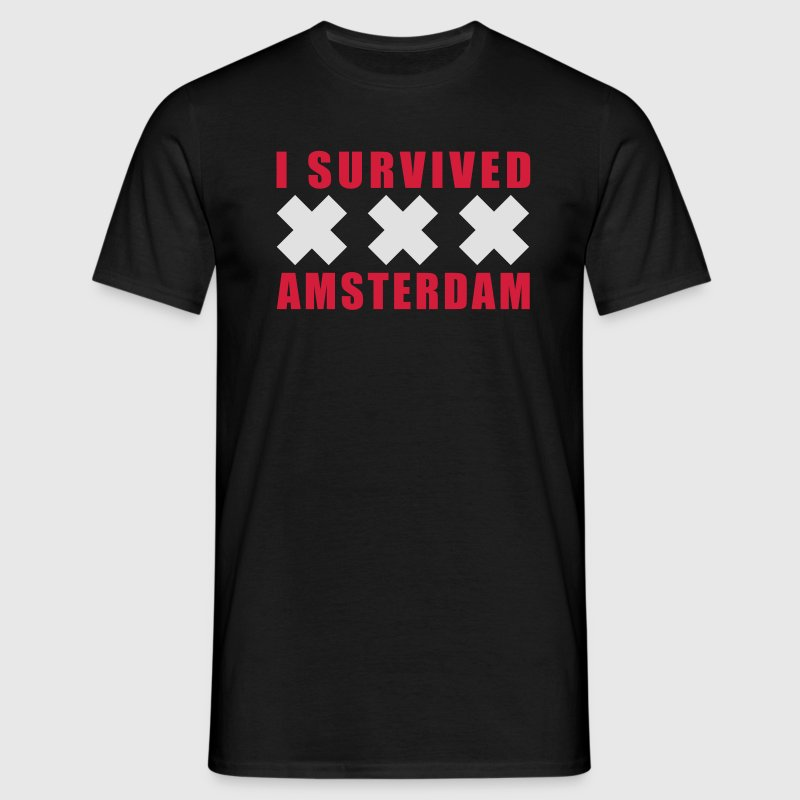 Black I Survived Amsterdam Holland XXX Men's T-Shirts - Men's T-Shirt