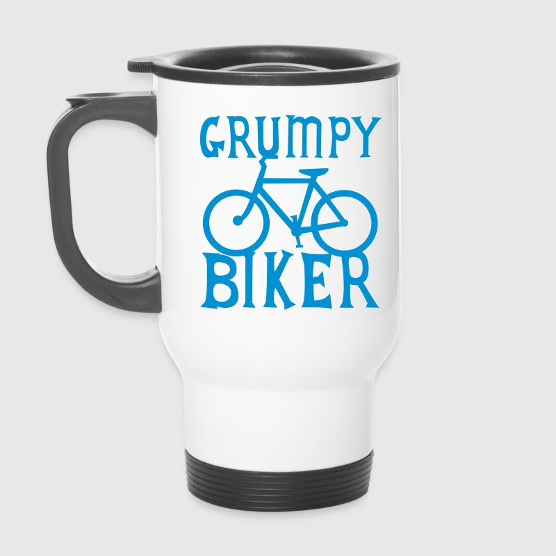 GRUMPY BIKER bicycle funny cycling Bottles & Mugs - Travel Mug