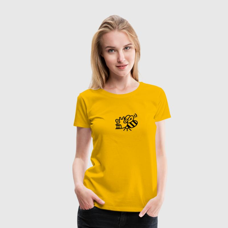 Yellow Killer Bee Ladies' - Women's Premium T-Shirt