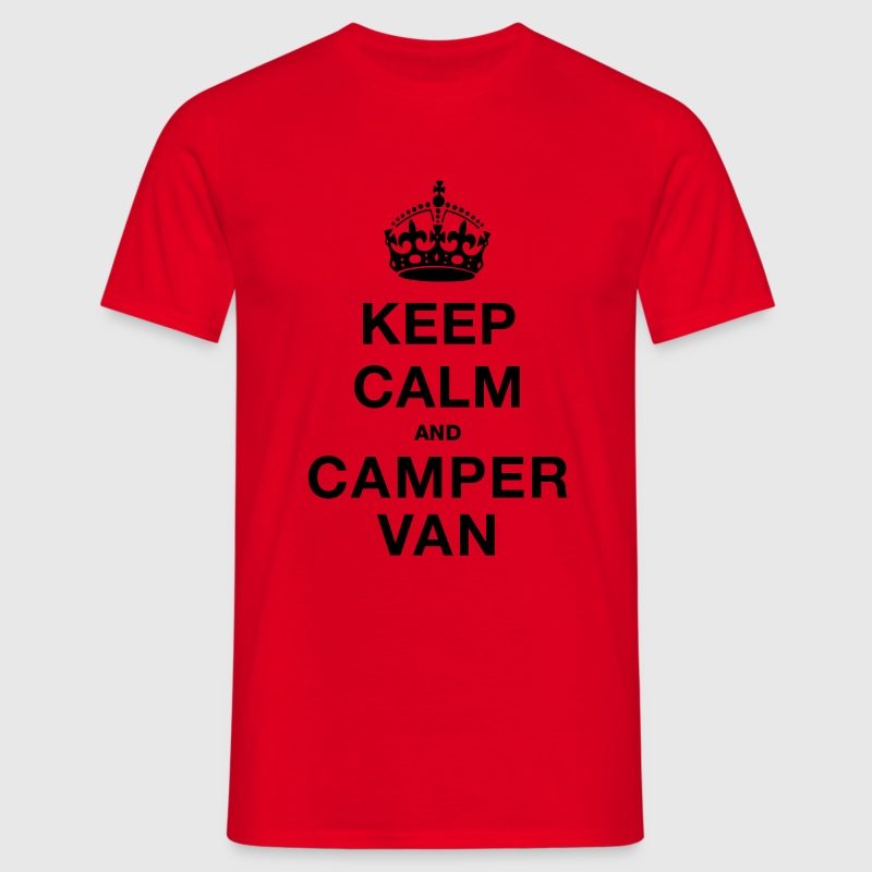 Red Keep Calm and Campervan Men's T-Shirts - Men's T-Shirt