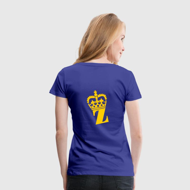 Aqua Z - Crown - Letters - Name Ladies' - Women's Premium T-Shirt