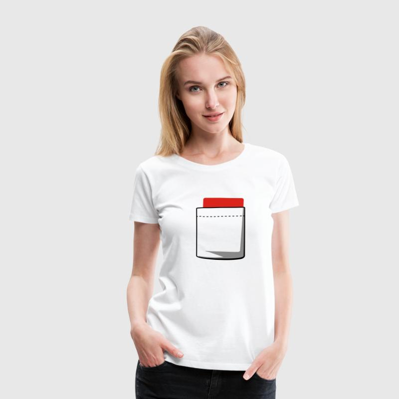 Blanc Attention carton Femmes - T-shirt Premium Femme