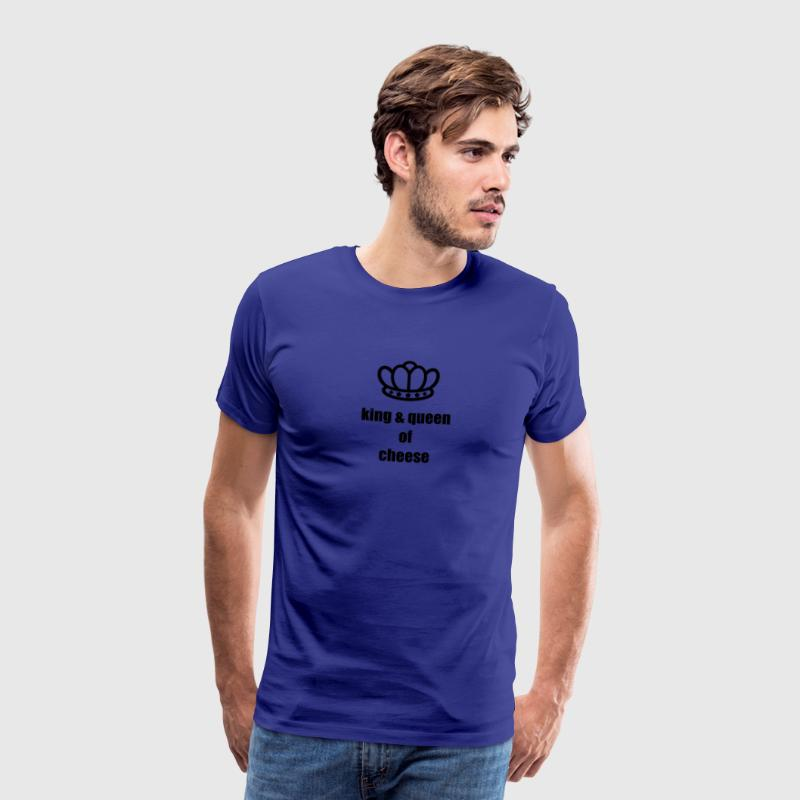 Royal blue King & Queen of Cheese Men's Tees (short-sleeved) - Men's Premium T-Shirt