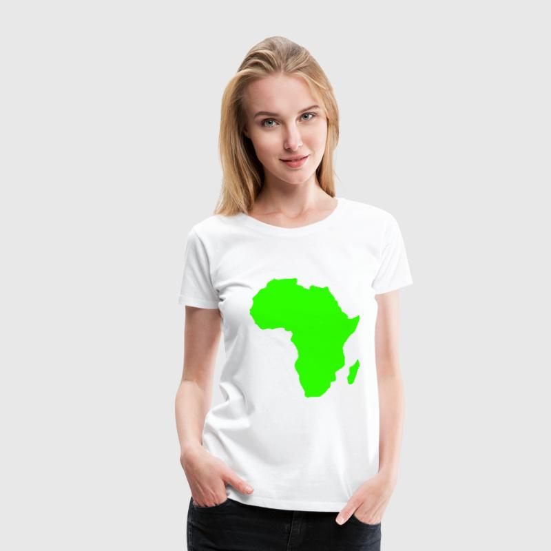 Africa, continent, Europe, Asia, America, South America, North America, Australia, north pole, South Pole, Arctic, Antarctic, Greenland, world, oldread, world ball, ocean, outlined, country, countries, geography  - Women's Premium T-Shirt
