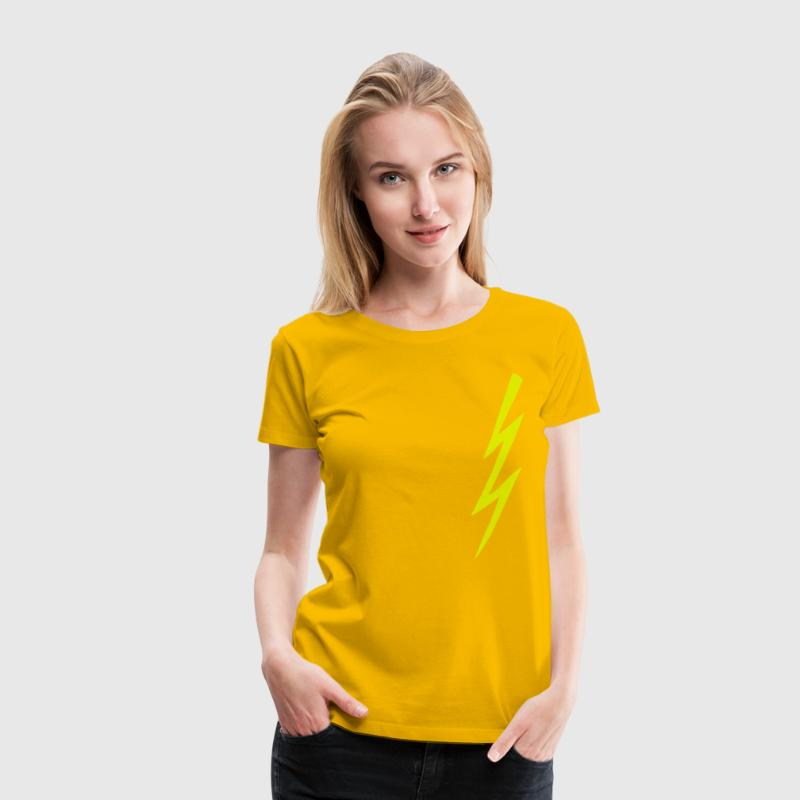 flash, lightning, arrow, flames, Tattoo, Tatoo, thunder, thunderstorm, flashes, wedge, Vinc, Mighty Boosh, noir, howard, moon, Noêl, falling thing, Naboo, bollo, Hitcher, Bob, fossil, crack, Fox, julian, Barratt  - Women's Premium T-Shirt