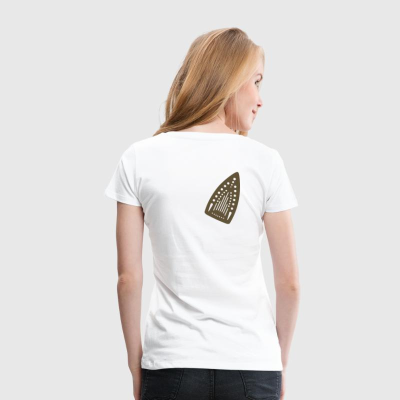 White Iron scorch-mark  Women's Tees - Women's Premium T-Shirt