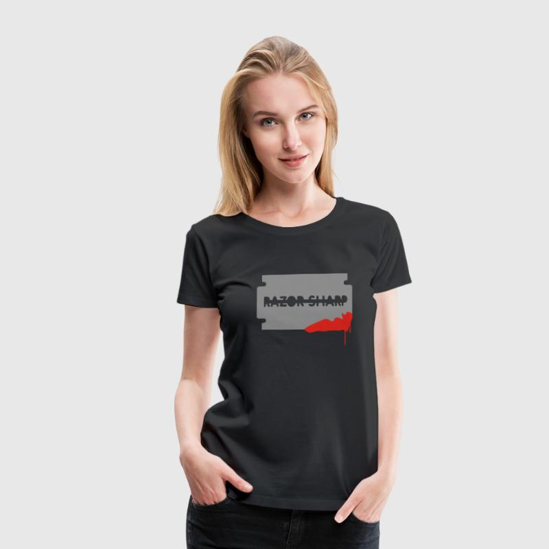 Black Close Shave Women's Tees (short sleeved) - Women's Premium T-Shirt