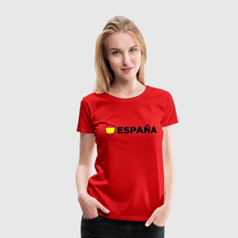 Red Spain Emblem Side 1 (3c, NEU) Women's T-Shirts - Women's Premium T-Shirt