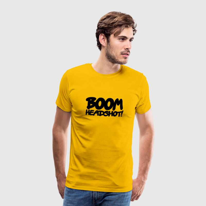 Yellow boom headshot! 1c UK Men's T-Shirts - Men's Premium T-Shirt