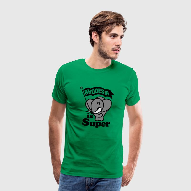 rhodesia is super - Premium-T-shirt herr