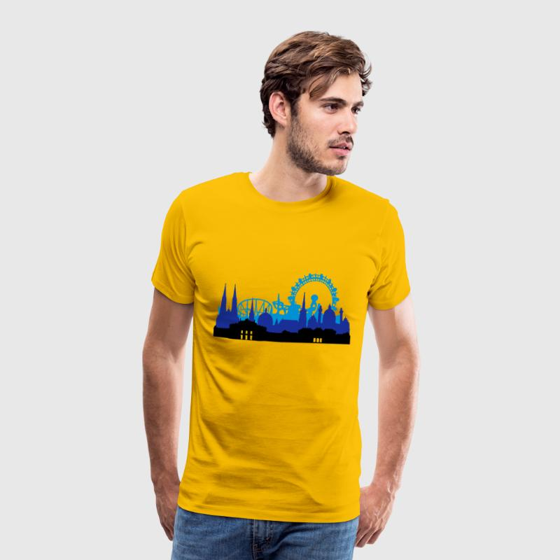Yellow Wien Skyline Men's T-Shirts - Men's Premium T-Shirt