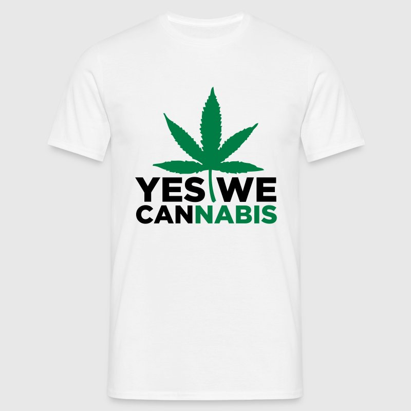 Sand Yes we Cannabis 3 (2c) T-Shirts - Männer T-Shirt