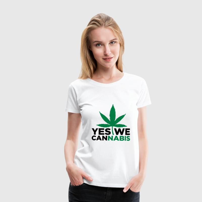 Weiß Yes we Cannabis 3 (2c) T-Shirts - Frauen Premium T-Shirt