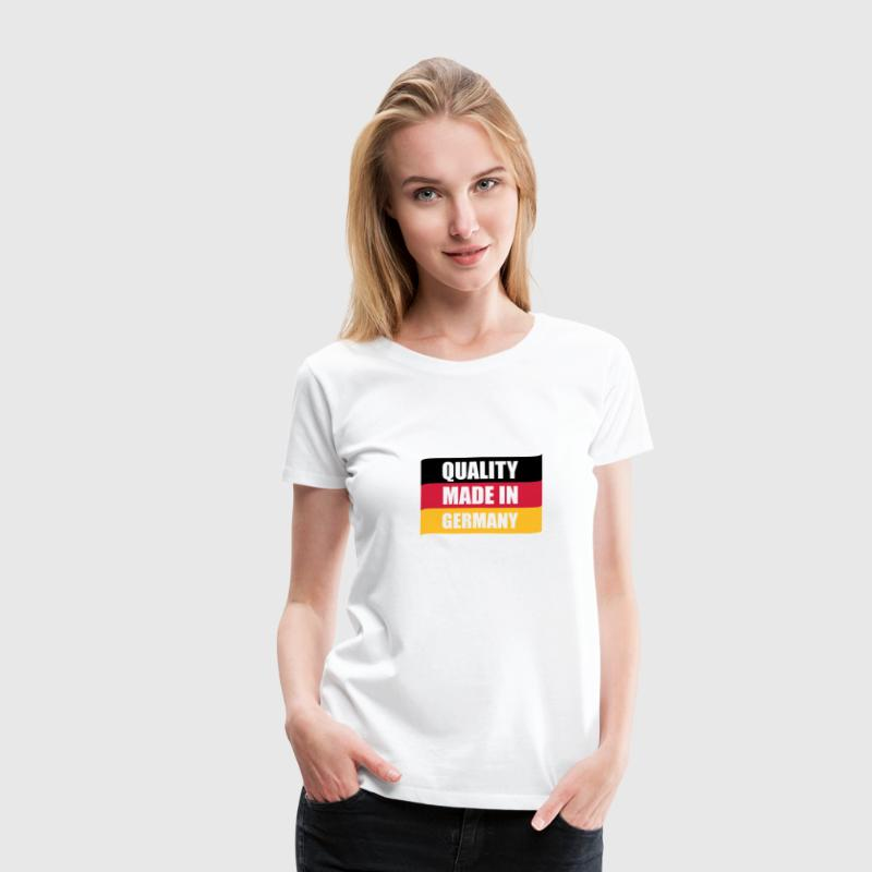 Weiß Quality made in Germany T-Shirts - Frauen Premium T-Shirt