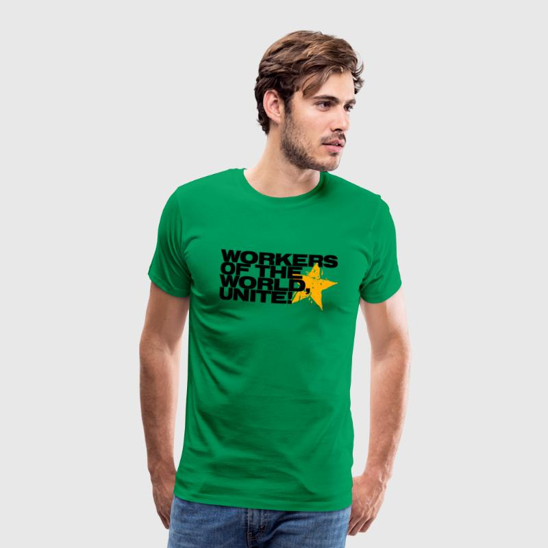 Khaki green Workers of the world, unite! Men's T-Shirts - Men's Premium T-Shirt