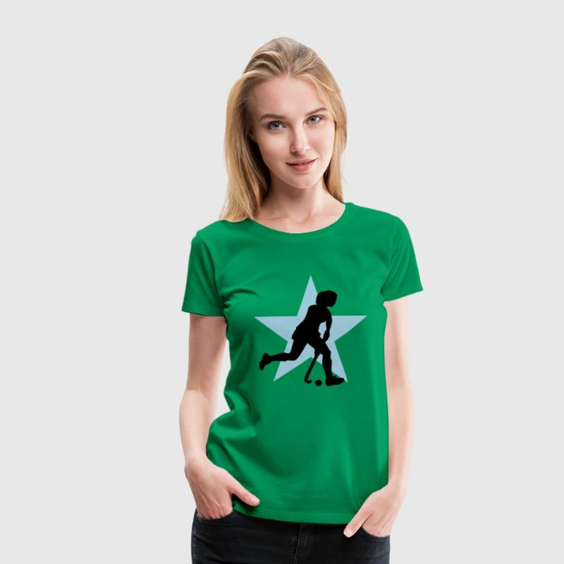 hockey_woman_c_2c T-skjorter - Premium T-skjorte for kvinner