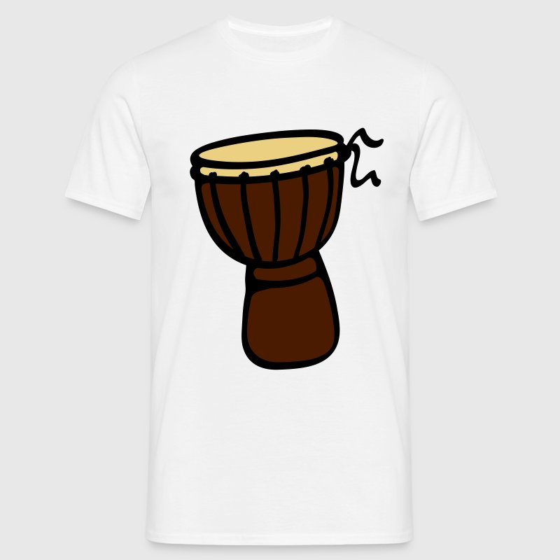 Beige sable Djembe Tambour T-shirts - T-shirt Homme