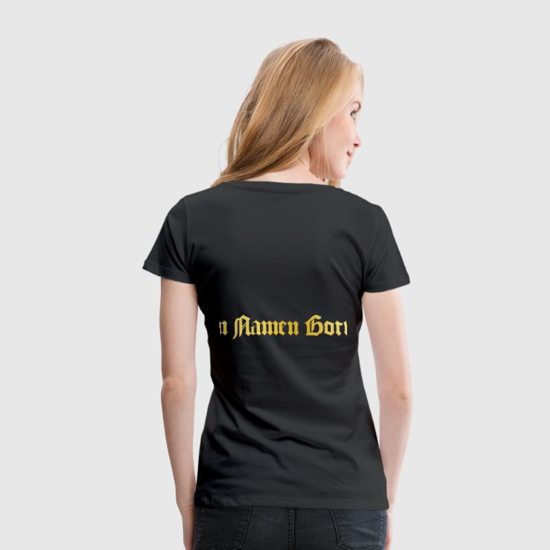 Templer Kreuz Im Namen Gottes/ Knights Cross T-Shirt - Frauen Premium T-Shirt