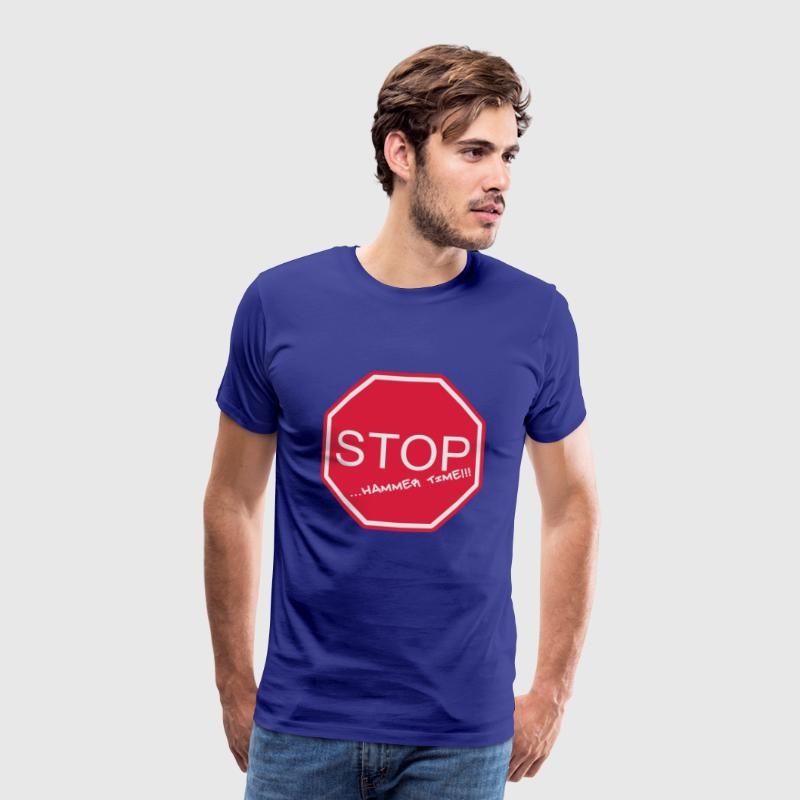 stop sign Hammer Time - Men's Premium T-Shirt