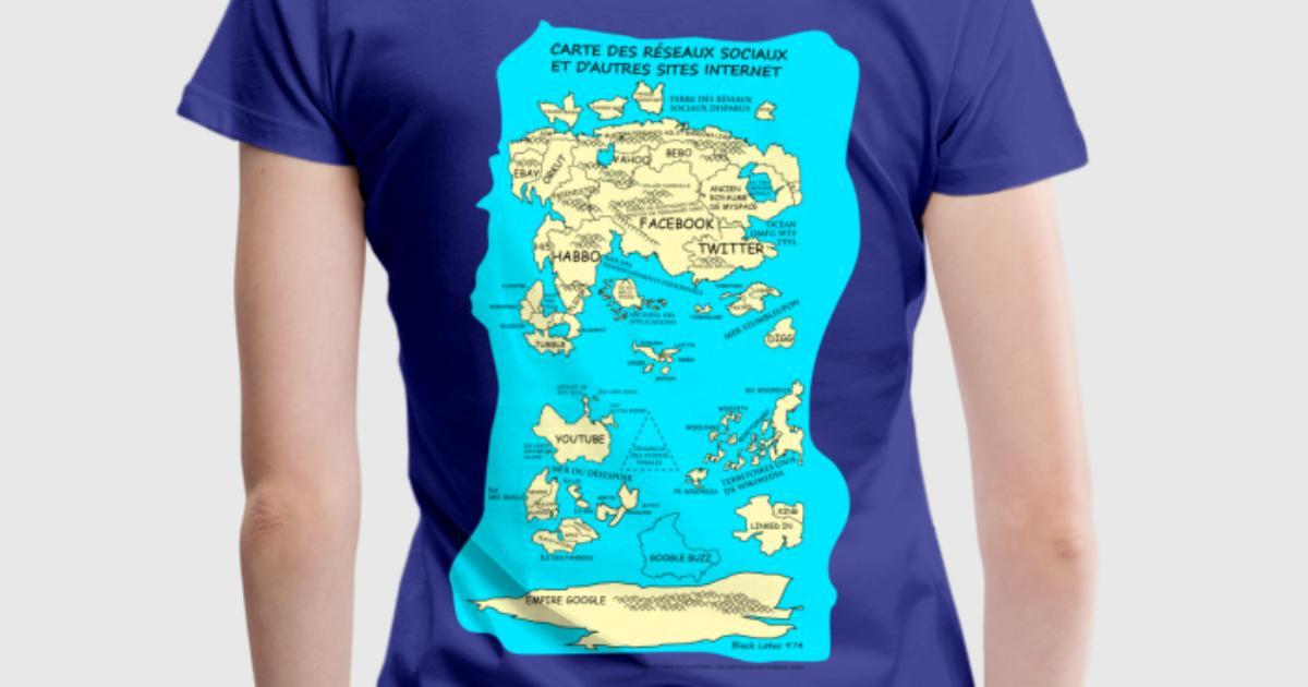 Tee shirt carte des r seaux sociaux spreadshirt for Two color shirt design