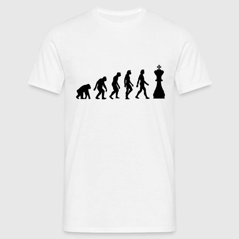 Sand beige Evolution of Chess 1 (1c) Men's T-Shirts - Men's T-Shirt
