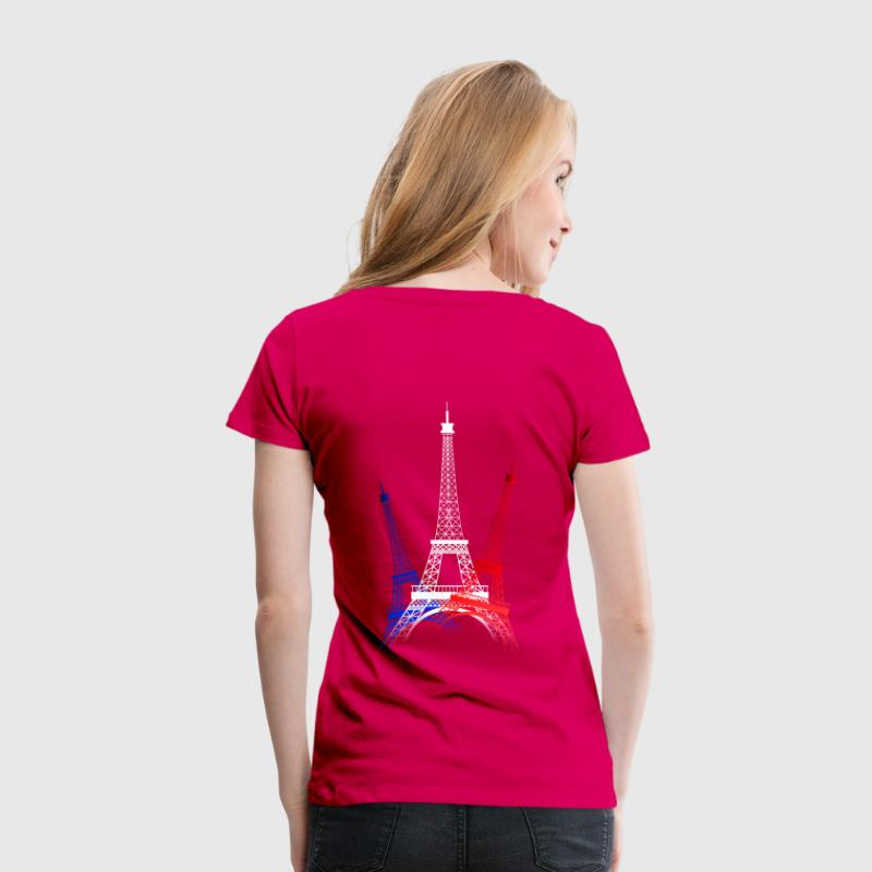 tee shirt tour eiffel bleu blanc rouge spreadshirt. Black Bedroom Furniture Sets. Home Design Ideas