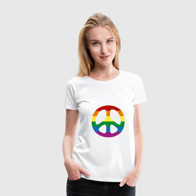 Rainbow Flag [Gay] T-shirts - Premium-T-shirt dam