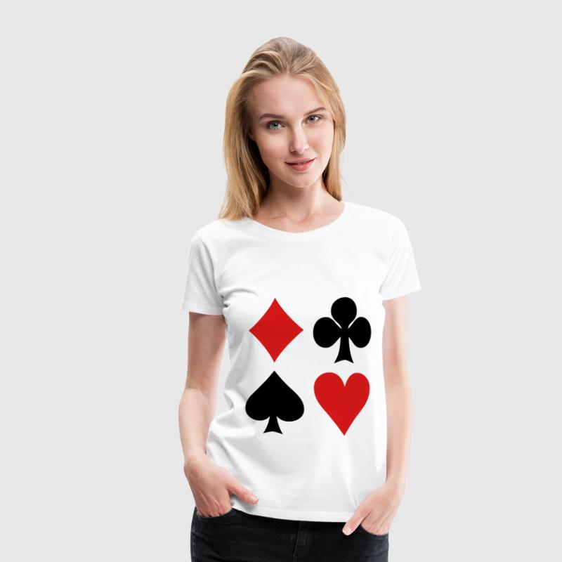 Poker - Cards T-Shirts - Women's Premium T-Shirt