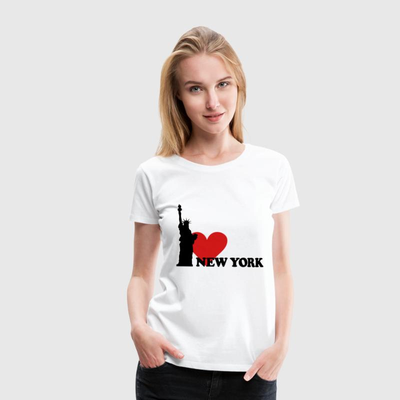 I love New York - NY T-shirts - Dame premium T-shirt